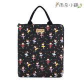 電腦包 包包 防水包 雨朵小舖雨朵防水包 M287-371 13吋筆電包(直式)-黑餅乾舞蹈女孩14220 funbaobao