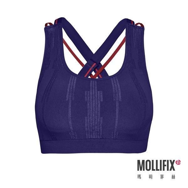 Mollifix瑪莉菲絲 A++ 微光可調肩帶浮托Bra (海軍藍)
