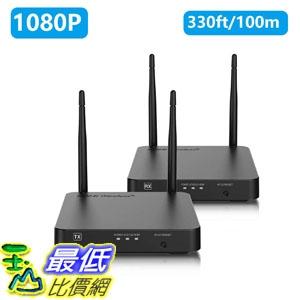 [7美國直購] 網路分享器 Wireless HDMI Extender, NexTrend Newest HDMI Transmitter and Receiver 328ft Supporting