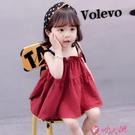 女童吊帶洋裝 夏季女寶寶吊帶裙新款潮兒童韓版連身裙超洋氣女童無袖嬰兒公主裙 小天使