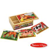 免運費《 美國 Melissa & Doug 》盒中木製拼圖 - 農場好朋友 ╭★ JOYBUS歡樂寶貝