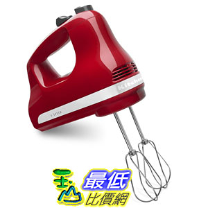 [美國直購] KitchenAid KHM512ER 5-Speed Ultra Power Hand Mixer, Empire Red 攪拌機