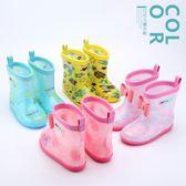 雨靴兒童雨鞋寶寶幼兒水靴小童水鞋防滑加絨嬰幼男童女童公主