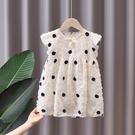 女童洋裝 女童連身裙韓系波點泡泡袖2021新款夏裝洋氣夏季公主寶寶小童裙子