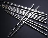 不銹鋼筷子家用防滑鐵筷子日式10雙