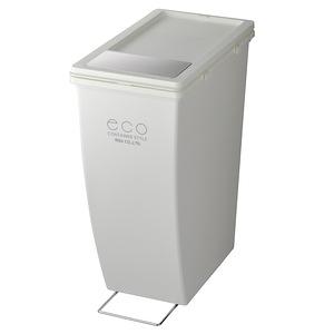 【日本eco container style】雙用型垃圾桶21L-白色