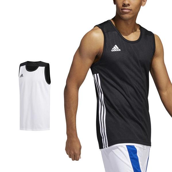 Adidas 3G Speed 愛迪達 球衣 黑 白 雙面穿團體籃球服 球衣 透氣 上衣 刺繡 無袖 背心 DX6385