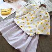 兒童唐裝漢服兩件套改良民國女童中國風印花公主童裝   伊衫風尚