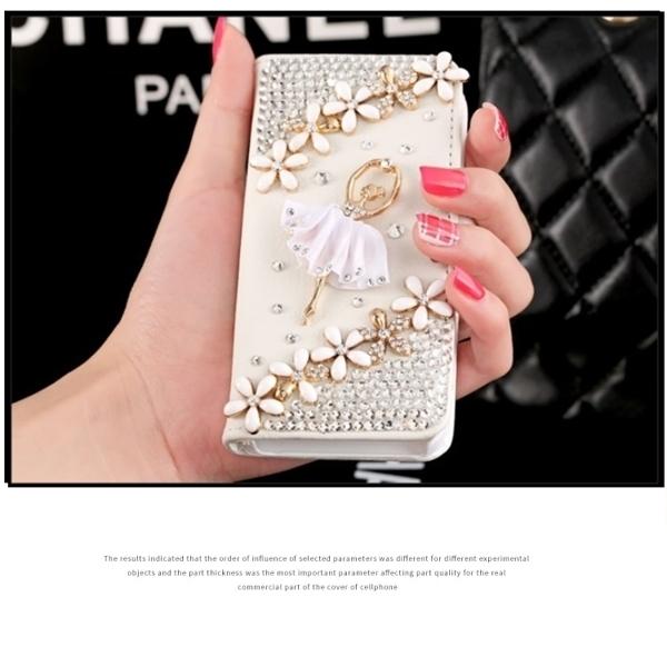 SONY Xperia 5 Xperia10 Plus Xperia1 XA2 Ultra XZ3 XZ2 L3 芭蕾雛菊皮套 手機皮套 水鑽 訂製