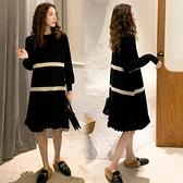 孕婦裙子 春季時尚寬松毛衣連衣裙過年外穿中長款針織裙可哺乳裙子【快速出貨八折下殺】