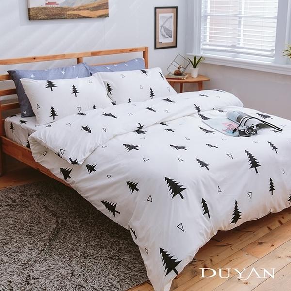 《DUYAN竹漾》天絲絨雙人加大床包被套四件組-極簡生活