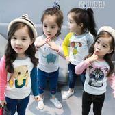 女童長袖T恤兒童童裝小童女寶寶卡通打底衫上衣體恤 青山市集