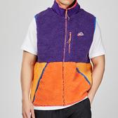 Nike Sportswear 男子 紫橘 羔羊毛 保暖 拼接 街頭 背心 外套 CD3143-547