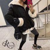 韓系百搭高腰條紋拼接緊身內搭褲 (RT0145-PQ75561) iRurus 路絲時尚