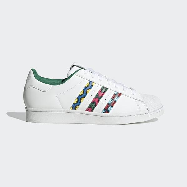 Adidas Superstar [GX7991] 男女鞋 運動 休閒 經典 舒適 貝殼 穿搭 愛迪達 白 綠