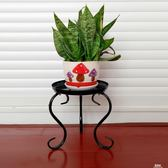 歐式單層鐵藝花架落地式陽台客廳花盆架子簡約綠蘿小花架igo     易家樂