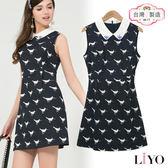 LIYO理優MIT洋裝滿版印花洋裝626085