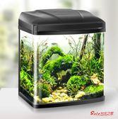 魚缸 魚缸水族箱客廳桌面小型金魚缸家用迷你懶人免換水玻璃創意生態缸T 3色