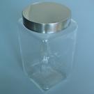 不銹鋼銀蓋儲物罐(方型-1500ml)/玻璃瓶/密封罐/收納罐/糖果罐/保鮮罐