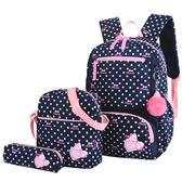 新款防水雙肩包女韓版小清新初中學生書包小學生可愛開學背包  艾維朵