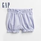 Gap嬰兒 布萊納系列 俏皮荷葉邊鬆緊短褲 834863-藍紫色