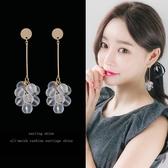 【免運到手價$98】新款韓國白色透明珠耳環長款氣質耳墜耳飾品女吊墜耳釘