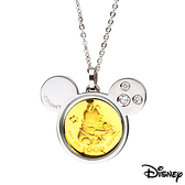Disney迪士尼金飾 可愛維尼寶貝 黃金/白鋼項鍊
