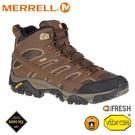 【MERRELL 美國 男 MOAB 2 MID GORE-TEX 登山鞋《咖啡》】ML06063/防水鞋/健行鞋/登山