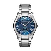 【Emporio Armani】美式羅馬時標紋路面盤時尚腕錶-紳士藍/AR11085/台灣總代理公司貨享兩年保固