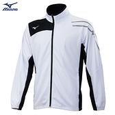 MIZUNO 男裝 外套 立領 針織 吸汗快乾 抗紫外線 兩側口袋 白【運動世界】32TC103301