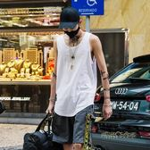 白色背心男打底衫潮牌街頭嘻哈寬鬆沙灘運動汗衫夏季無袖t恤坎肩 「時尚彩虹屋」