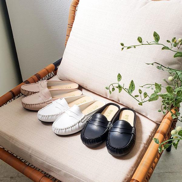 ★秋裝上市★MIUSTAR 柔軟鞋底!懶人皮革豆豆穆勒鞋(共3色,36-40)【NG0741ZP】預購