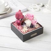 新年鉅惠永生花苔蘚玫瑰小熊禮盒擺件情人節結婚紀念生日禮物 芥末原創