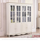 【大熊傢俱】杏之韓 HE018-4 韓式 四門書櫃 收納櫃 儲物櫃 置物櫃 玻璃櫃 另售兩三門書櫃