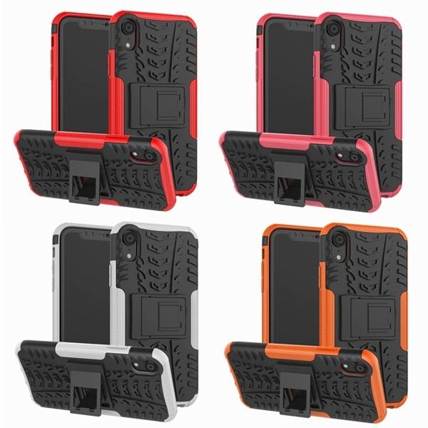 蘋果 XS XR XS MAX 輪胎紋 手機殼 全包邊 內軟殼 TPU 外硬殼 PC 防摔 保護殼