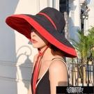 遮陽帽 漁夫帽女韓版百搭潮帽子大沿日系款遮臉防曬遮陽帽夏天太陽帽 街頭布衣