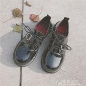 韓國原宿復古學生女鞋厚底百搭學院風小皮鞋女軟妹單鞋潮   花間公主