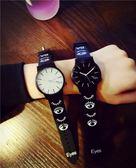 雙12聖誕交換禮物手錶韓國潮男時尚創意個性女學生正韓極簡約情侶一對石英exo潮錶