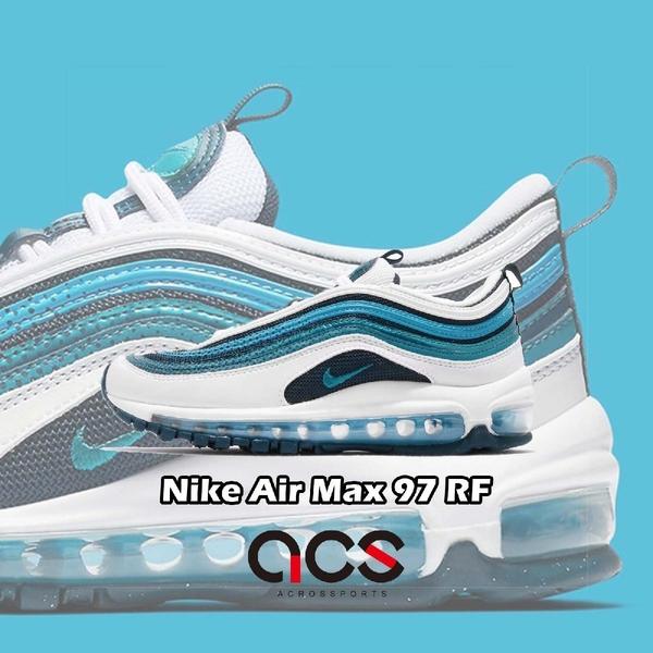 Nike 休閒慢跑鞋 Air Max 97 RF GS 藍 白 點點 女鞋 大童鞋 運動鞋【ACS】 BV0050-100