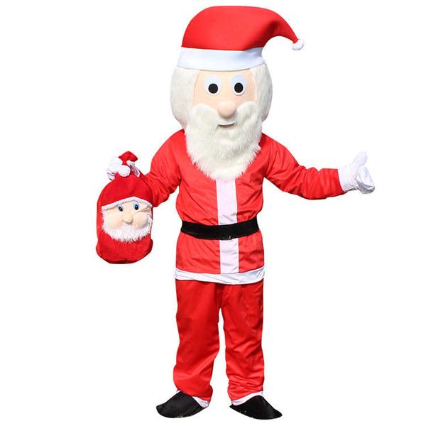 圣誕老人人偶服平安夜圣誕節成人行走人穿玩偶服店慶活動道具服裝快速出貨