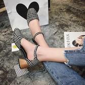 一字搭扣中空涼鞋 米蘭shoe