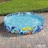 充氣泳池 Bestway海洋動物硬膠兒童戲水池家庭游泳池養魚池免充氣 ATF 極有家