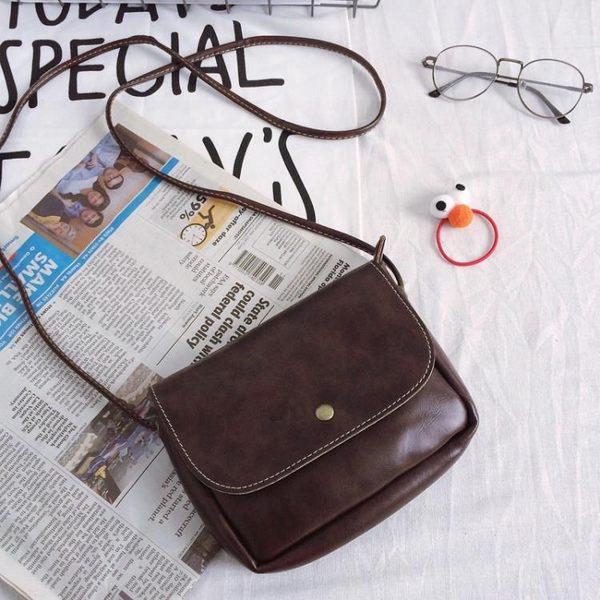軟皮小包包復古包   正韓斜背包復古小方包迷你小挎包手機包 女包
