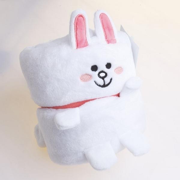 毛毯 布布童鞋LINE 兔兔娃娃綁帶捲捲毯 冷氣毯 玩偶刷毛毯 [ 4GM054Y ]