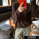 舒適慵懶風下襬開叉長袖T恤 Z11024   【全館免運】