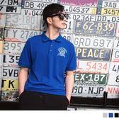 《KL0411-》刺繡徽章造型短袖POLO衫 OB嚴選