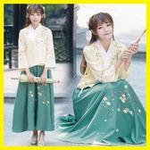 店長推薦改良漢服女古裝長袖襦裙兩件套