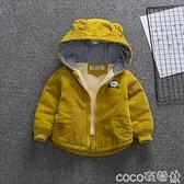 熱賣嬰兒棉衣外套 男童秋冬棉衣嬰兒燈芯絨加厚外套0-3歲4寶寶冬裝2021新款小童棉服 coco