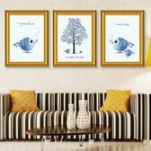 餐廳裝飾畫愛情鳥油畫客廳三聯組合現代簡約北歐風格時尚歺廳掛畫·享家生活館IGO