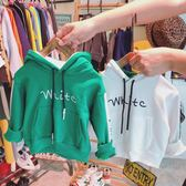 2018春秋裝男童寬鬆長袖連帽打底衫 中小童舒適字母兒童衛衣 初見居家